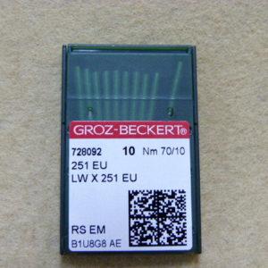 Игла Groz-beckert 251 EU №70(уп. 10 шт.)