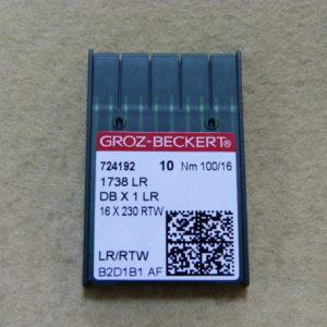 Игла Groz-beckert DBх1 LR №100(уп. 10 шт.)