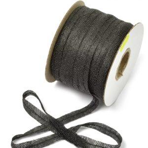 Лента нитепрошивная с усилением 20 мм, черная, 1 рул-150 м