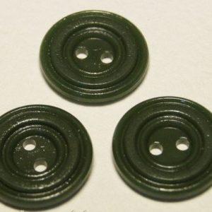 Пуговица 2-П д.17мм зеленый темный (1000 шт/уп)