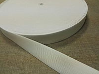 Резинка-продежка  вязаная 40мм (1уп.-25) белая