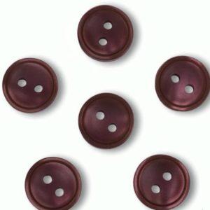 Пуговица 2-П д.12мм красная (1000 шт/уп) 18L