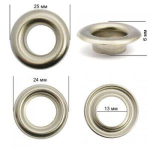 Люверсы №26 (12мм) никель (уп-500шт)