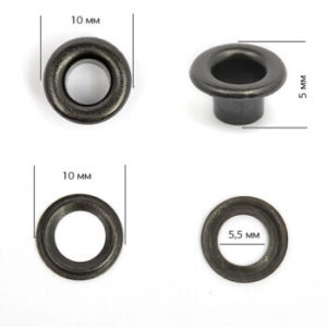 Люверсы №3 (5мм) оксид (уп.5000шт.)