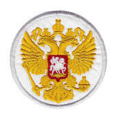 """Аппликация """"герб Россия"""" (белый) – 8007"""