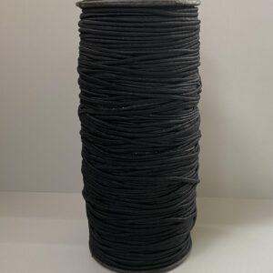 Резинка круглая 2.00мм 100м черный