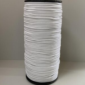 Резинка круглая 2.00мм 100м белый