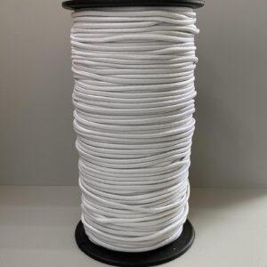 Резинка круглая 3.00мм 100м белая